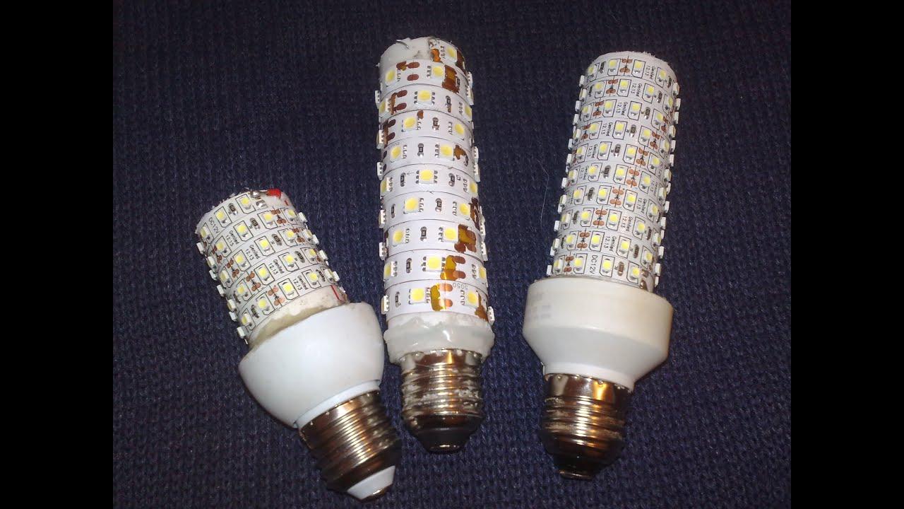 Светодиодные лампа на 12 вольт своими руками