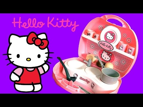 Hello Kitty Mini Kitchen Playset Play Doh Cuisine Cucina Kuche ハローキティ プレイ・ドー  Playdough video