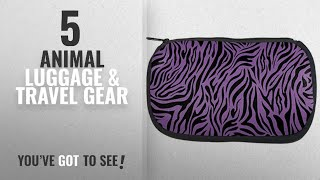 Top 10 Animal Luggage & Travel Gear [2018]: Zebra Print Purple Makeup Bag