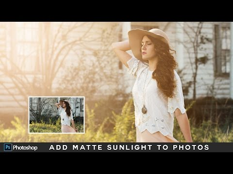 How to Add Natural Sunlight to Photos in Photoshop - Matte Light Photo Effect Photoshop Tutorial