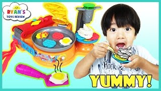 Play Doh Breakfast Cafe toys for Kids with Waffle Maker