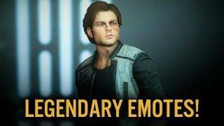 Young Han Solo: Legendary Emotes! - Star Wars Battlefront 2
