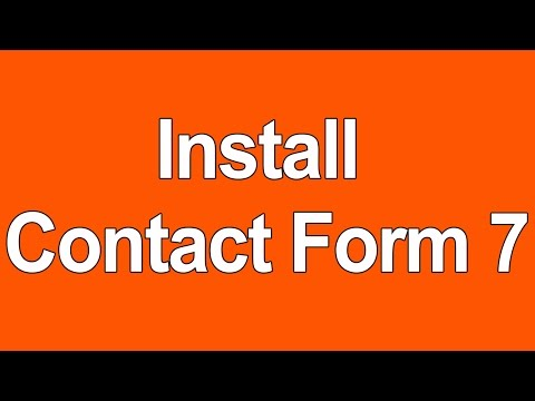 How to install contact form 7 and setup in contact us page on WordPress - Tutorial 2016
