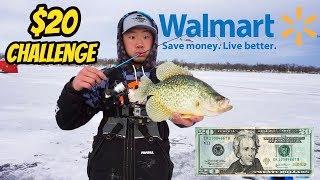 $20 Walmart Ice Fishing Challenge
