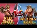 Clash of Clans: CIVIL WAR 🔥 Red Elite vs SAC Kings Elite - CoC Attack Strategy Gameplay!