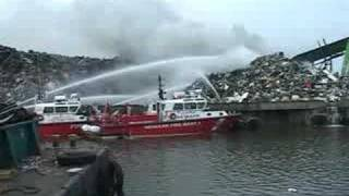 06.25.07 - Jersey City & Newark Fireboats in action!!!