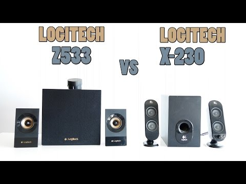 Logitech z533 vs Logitech X-230 Review and Sound test (4k)