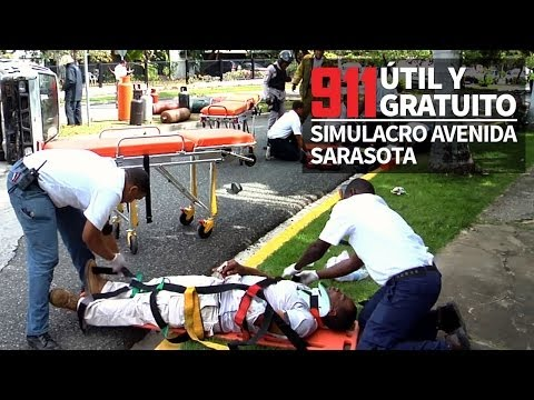 911,útil y gratuito. Simulacro Sarasota