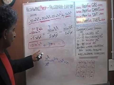 Algebra Help Day 85 - Math Tutor - GRE, GMAT, SAT Prep - Online via Skype KeshwaniPrep.com