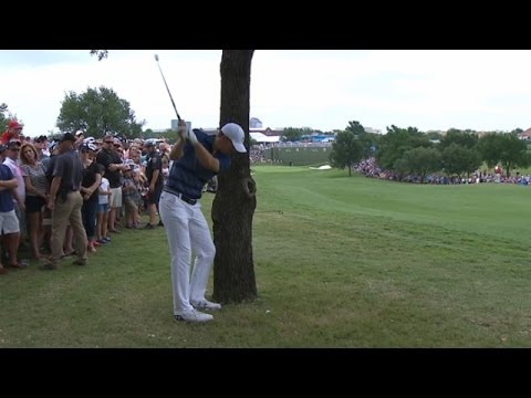 Jordan Spieth grinds out par on No. 1 at AT&T Byron Nelson