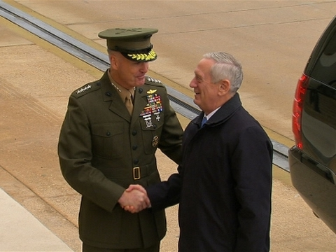 Raw: Defense Secretary Mattis Arrives at Pentagon