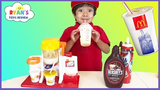 McDonald's Shake Maker & McDonald's Cash Register! Kids Pretend Play Food Happy Meal Surprise Toys