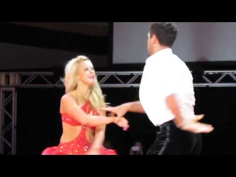 Chelsie Hightower & Maksim Chmerkovskiy at Lakeland College, Wisconsin