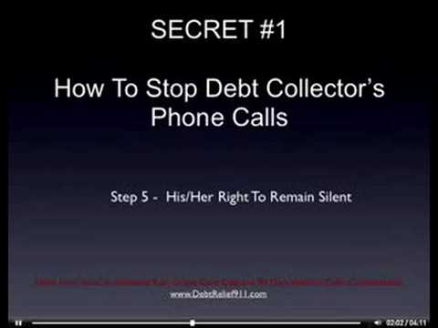 3 Simple Secrets to Stop Debt Collectors Calls Forever