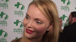 Izabella Miko Interviewed By Ken Spector at 8th Annual Global Green Pre-Oscar Party