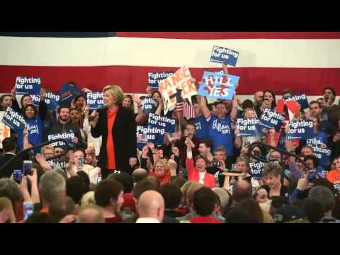 Hillary Clinton riles up the crowd talking about Syracuse basketball