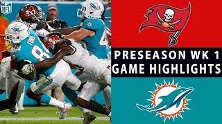 Buccaneers vs. Dolphins Highlights   NFL 2018 Preseason Week 1
