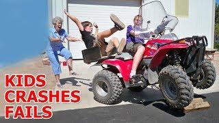 Kids' crashes on Mini Quad (ATV) 2017