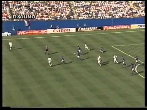 ITALIA-Norvegia 1 a 0 del Mondiale 'Usa 1994' (telecronaca secondo tempo)