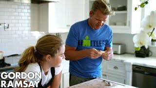 Gordon Teaches Matilda How To Make Dumplings!
