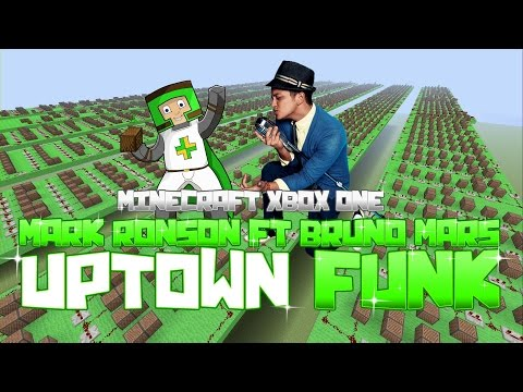 Mark Ronson ft Bruno Mars - Uptown Funk | ♫ Minecraft Xbox One Noteblock Song ♫ |