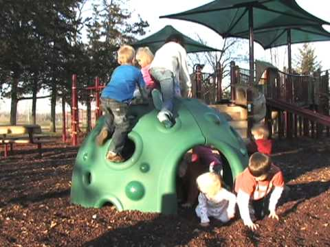 Kids Playing on Inclusive Play Playgrounds
