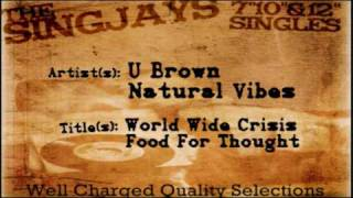 U Brown + Natural Vibes - World Wide Crisis/ Food For Thought