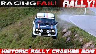 Historic Legend Rally Cars Crash Compilation 2018