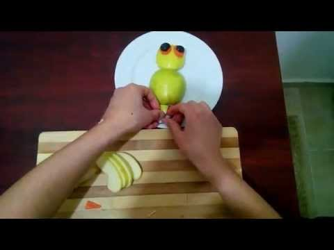 Elmadan baykuş yapımı