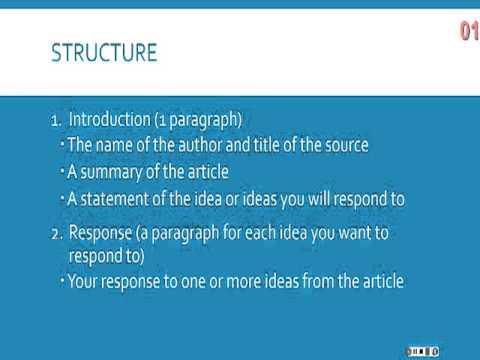 summary response essay structure How to write a Response Essay - Outline, Structure, Format, Examples, Topics