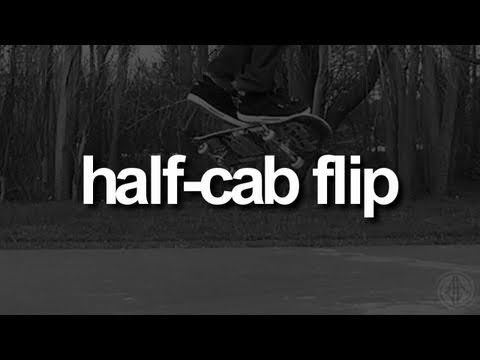 Half-Cab Flip: First-Person Skateboarding.