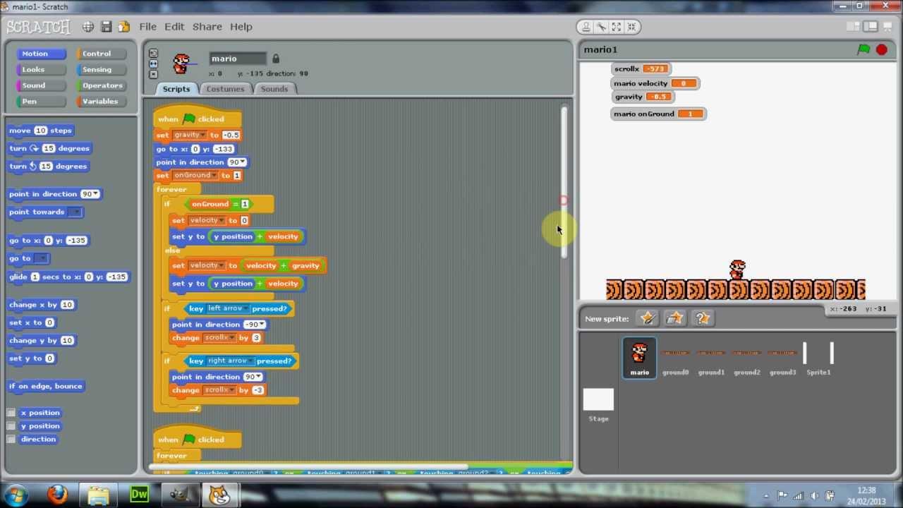 Scratch - Mario Tutorial Part 2 - YouTube