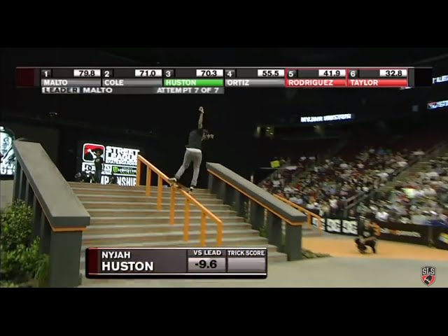 Street League: The Nine Club - Nyjah Huston&#039;s Caballerial Backside Lipslide - 9.0