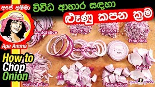 How to Chop Onoin by Apé Amma