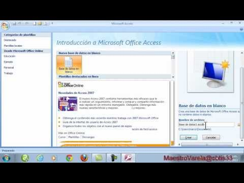 Tutorial de MS Office Access 2007 (parte 1)