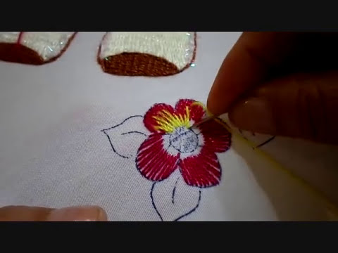 Bordado Fantasía Flor Borrego