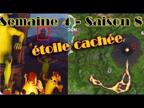 SEMAINE 4 - SAISON 8 ÉTOILE CACHÉE (BANNIÈRE) FORTNITE