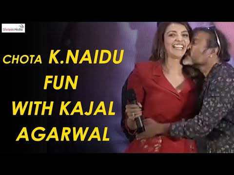 Chota K Naidu Fun With Kajal Agarwal  @ Kavacham Teaser Launch