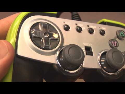 Classic Game Room - GREEN CYBER GADGET controller review for PS2
