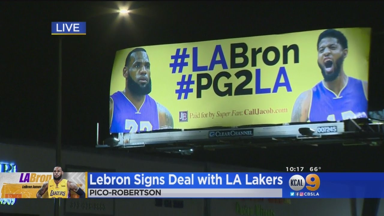 LA Excited For LeBron James Coming To Lakers