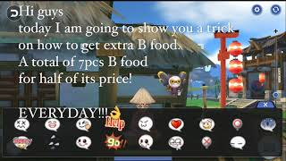 Ragnarok Mobile Eternal Love (ROM) TRICK ON HOW TO GET MANY B FOOD (MEAL) IN A DAY!