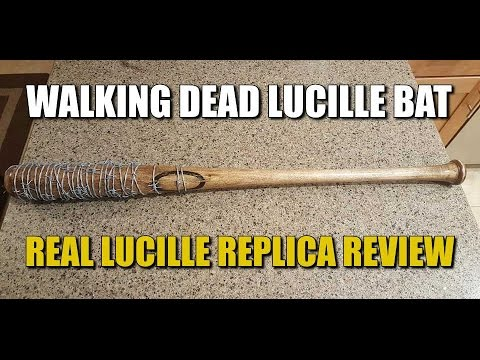 The Walking Dead Lucille Replica Bat Review Real Lucille Bat Review Strong Hand Creations