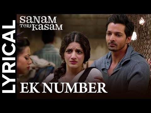 Lyrical: Ek Number | Full Song With Lyrics | Sanam Teri Kasam