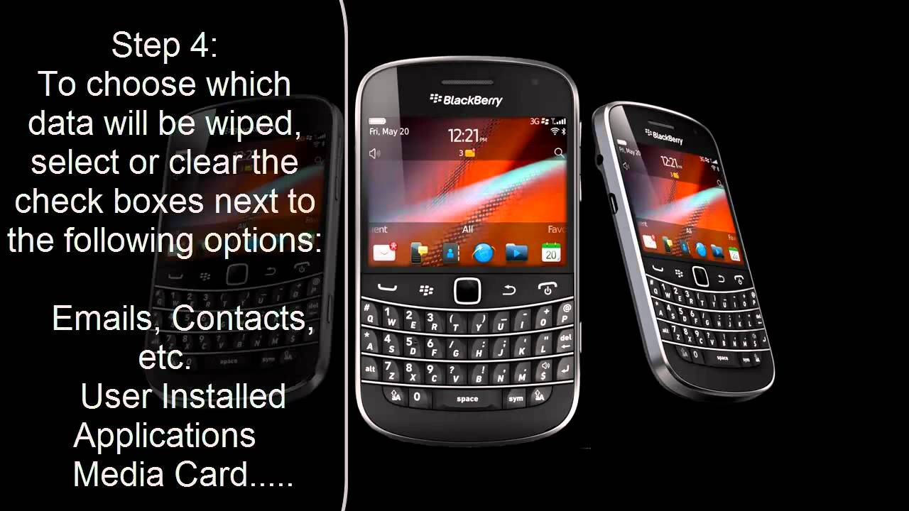 Blackberry bold 9790 reset to factory settings