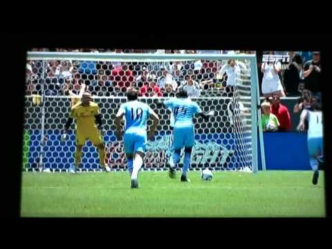 Mario Balotelli moaning and back heel shot against LA Galaxy. Manchester City vs LA Galaxy 24/07/2011 The main bit starts at about 1:00 with him taking the penalty, then the back heel instead...