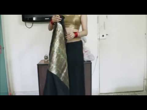 How To Tie An Indian Saree:step By Step Easy Sari Wearing Tutorial video