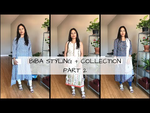 MY BIBA CLOTHING COLLECTION PART 2 || BLUES & GREENS