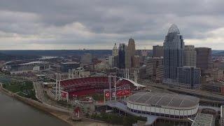Downtown Cincinnati Ohio (Drone)