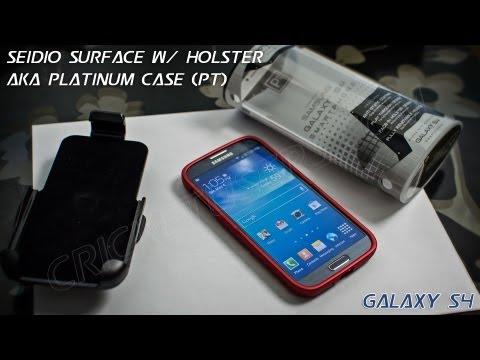 Seidio Surface Case for Samsung Galaxy S4 (Best Buy Platinum PT Case) w/ Holster