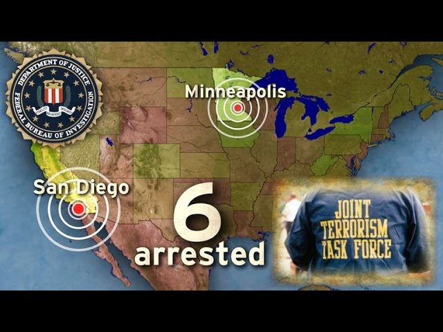 Six terror suspects arrested in Minneapolis, San Diego